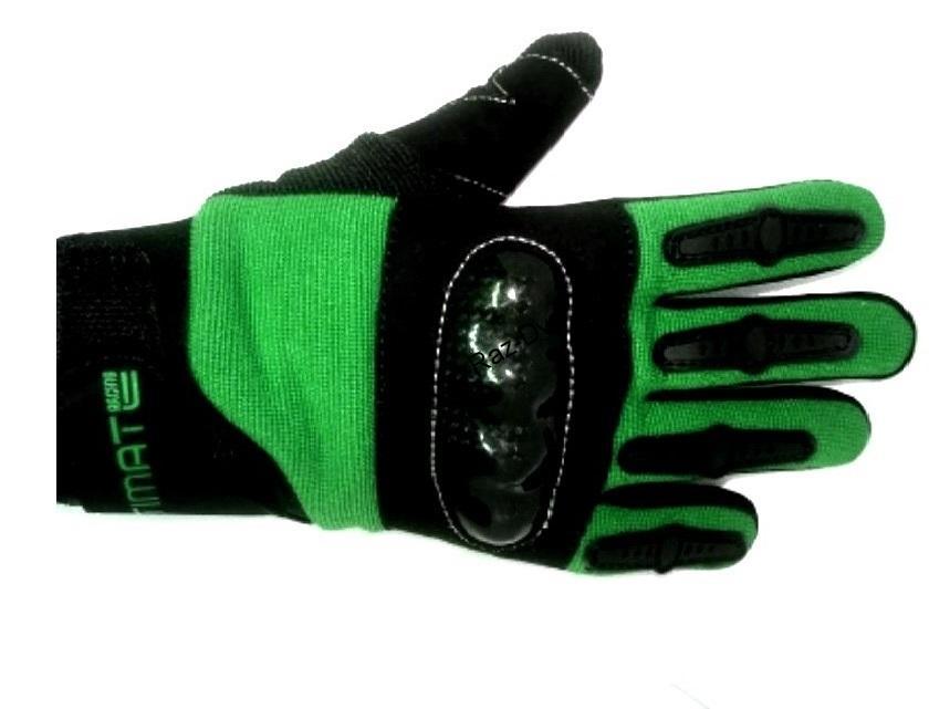 2870dd387 Dětské rukavice na motorku zelené