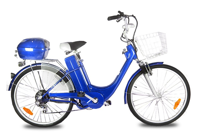 Elektro kolo City bike blue