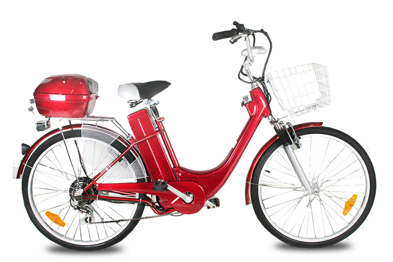 Elektro kolo City bike red