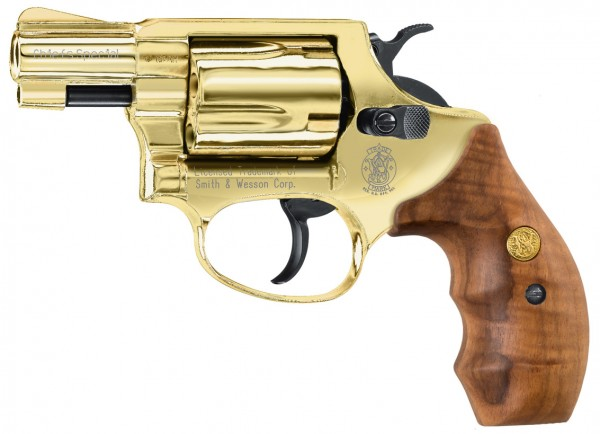 Plynový revolver Smith&Wesson Chiefs Special gold