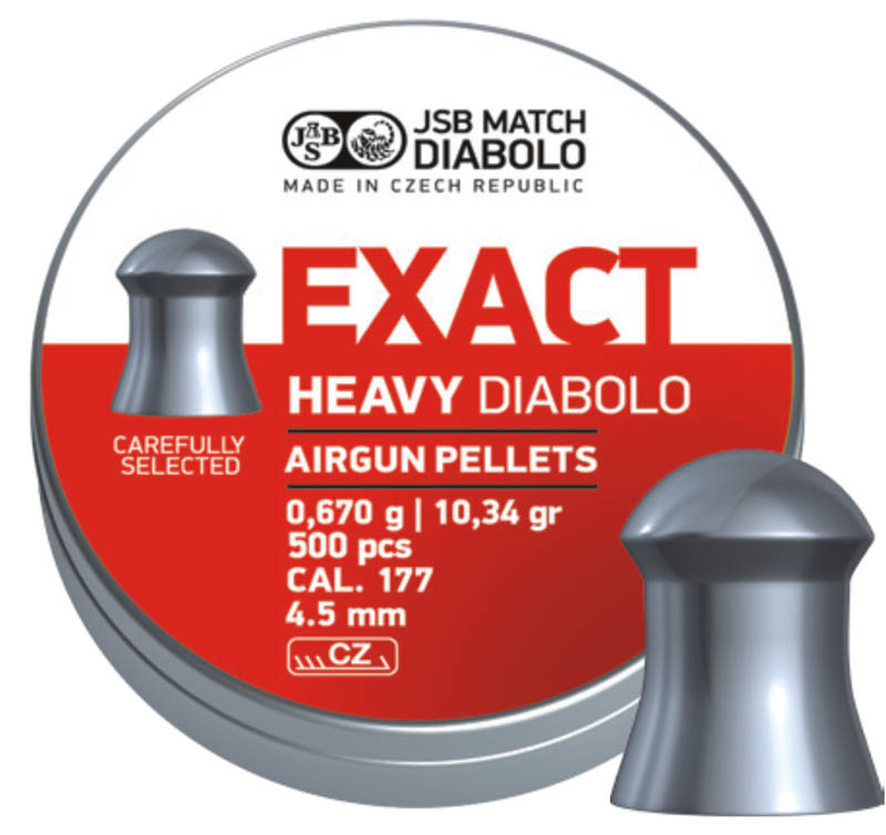 Diabolo JSB Exact Heavy 500ks cal.4,52mm