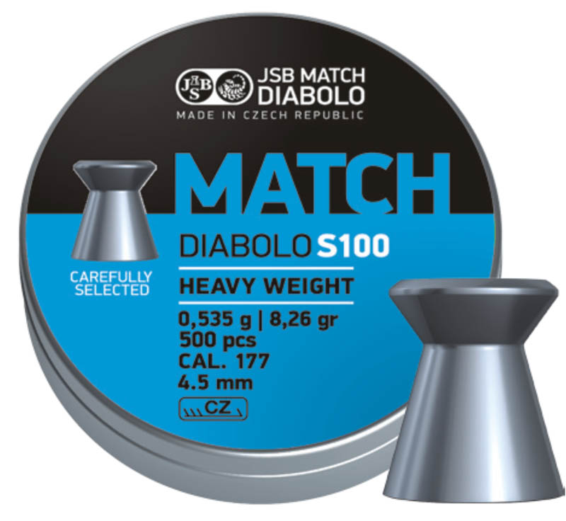 Diabolo JSB Match S100 500ks cal.4,48mm