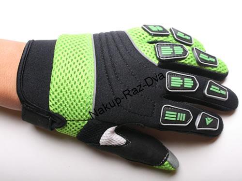 fbef9dd6914 Dětské motocross rukavice zelené